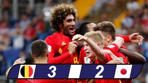 Bỉ 3-2 Nhật Bản: Thắng ngược vào phút chót
